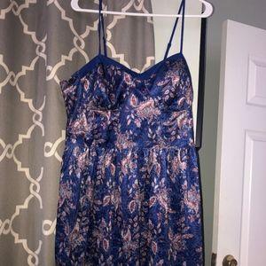 Blue Printed Dress (short)